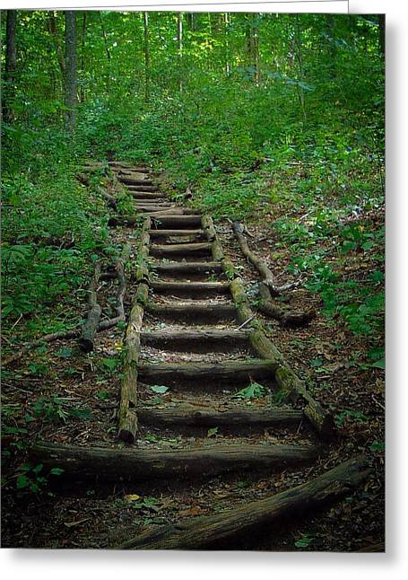 Stairway At Unicoi Gap On The At Greeting Card
