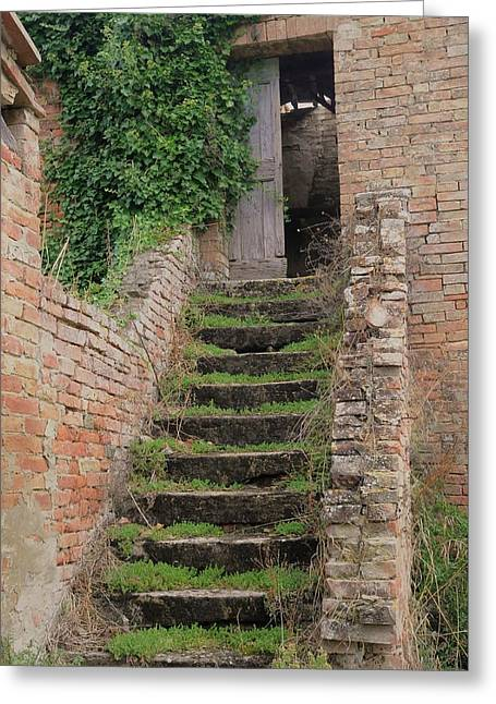 Stairway Less Traveled Greeting Card