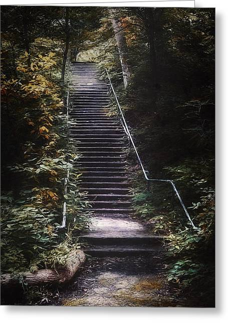 Stairway Greeting Card by Scott Norris