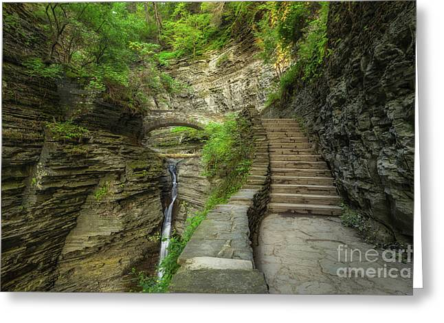 Stairway To Bliss  Greeting Card by Michael Ver Sprill