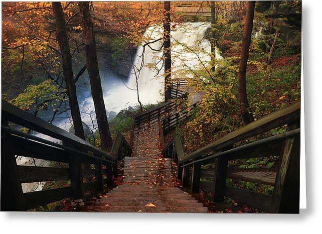 Stairway To Brandywine Greeting Card by Rob Blair