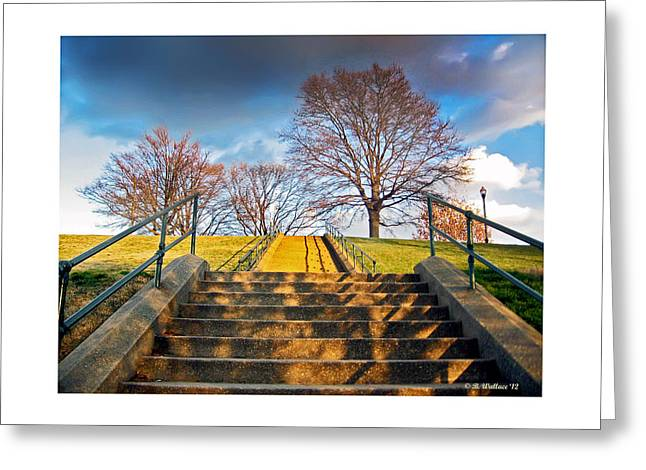 Stairway To Federal Hill Greeting Card by Brian Wallace