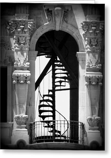 Stairway To Heaven Bw Greeting Card