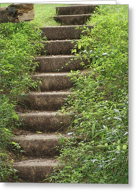 Stairway To Heaven Greeting Card by Heather Green