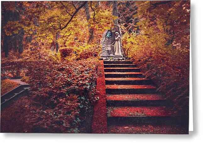 Stairway To Heaven In Riga Latvia  Greeting Card by Carol Japp