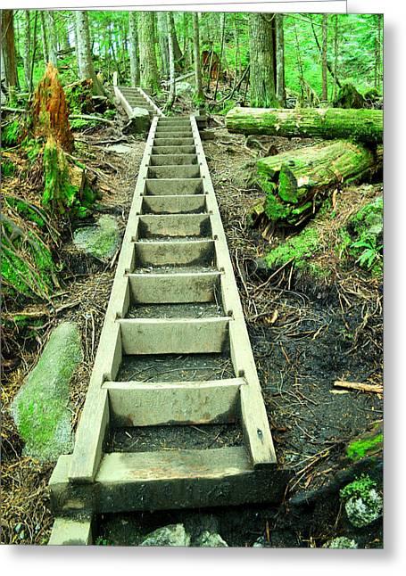 Stairway To Heaven Greeting Card by Jeff Swan
