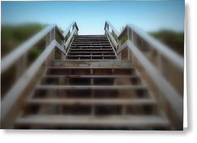 Stairway To Heaven Greeting Card by Karen Cook