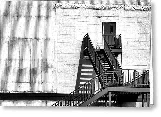 Stairway To Less Than Heaven  Greeting Card by Olivier Le Queinec