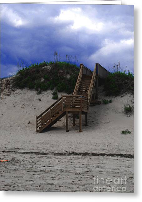 Stairway To Reality Greeting Card by Linda Mesibov