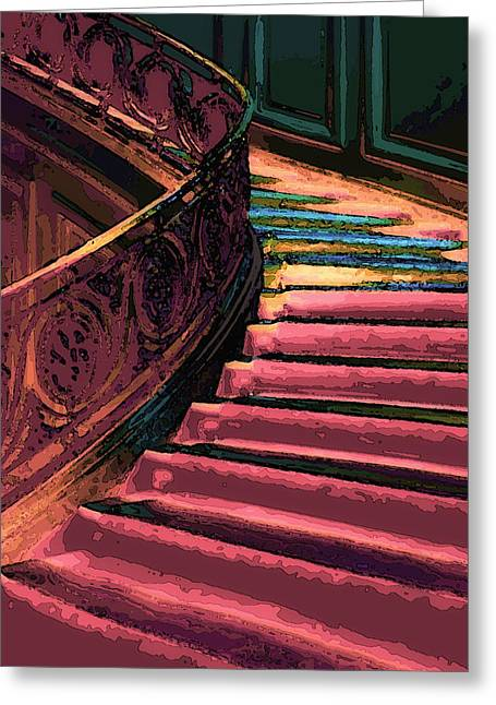 Stairway To Somewhere Greeting Card by Lyle  Huisken