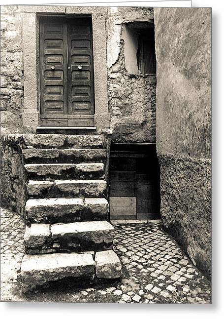 Stairway To The Past Greeting Card by Emanuel Tanjala