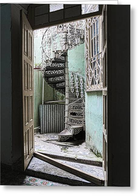 Stairway To Up Greeting Card by Sharon Popek