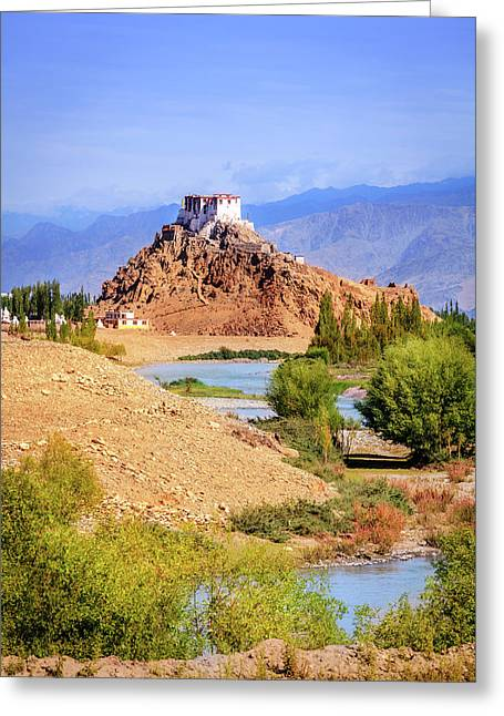Greeting Card featuring the photograph Stakna Monastery by Alexey Stiop