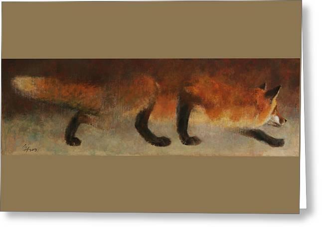 Stalking Fox Greeting Card