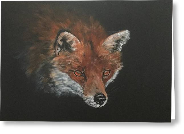 Red Fox In Stalking Mode Greeting Card