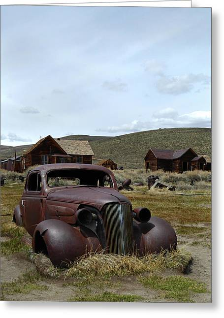 Stalled In Bodie Greeting Card by Gordon Beck