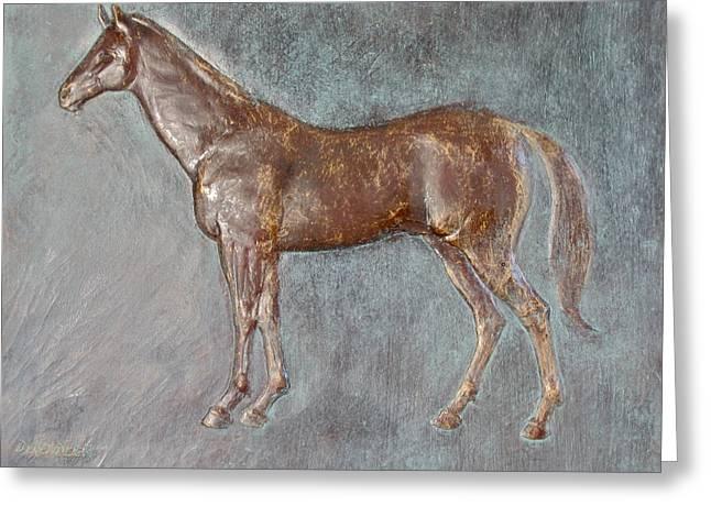 Stallion Greeting Card by Deborah Dendler