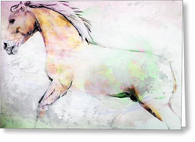 Greeting Card featuring the photograph Stallion by Dressage Design