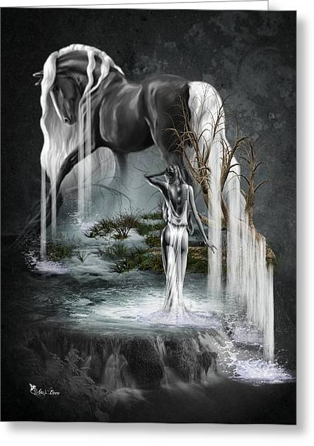 Stallion Falls Greeting Card