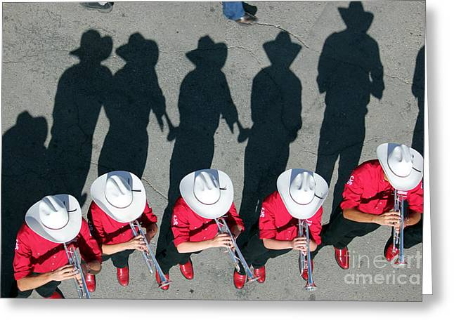 Greeting Card featuring the photograph Stampede Brass Band by Wilko Van de Kamp