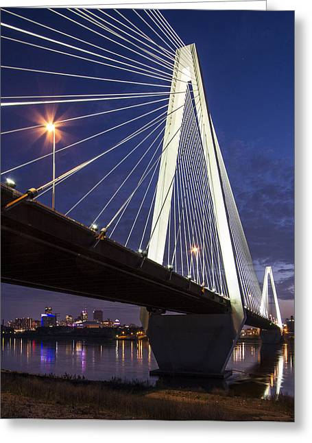 Stan Musial Bridge St Louis Greeting Card by Garry McMichael