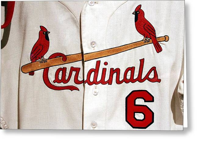 Stan Musial Final Game Jersey Greeting Card