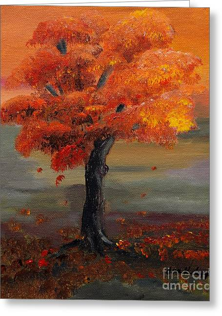 Stand Alone In Color - Autumn - Tree Greeting Card