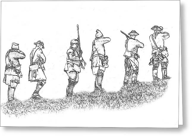 Stand Fast Soldier Sketch Greeting Card