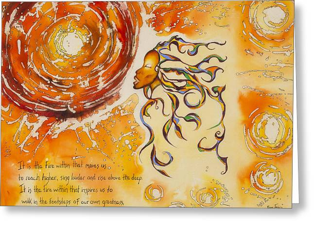 Stand In The Sun Greeting Card by Roxane Tracey