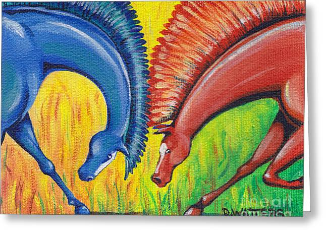 Stand-off Greeting Card by Darlene Watters