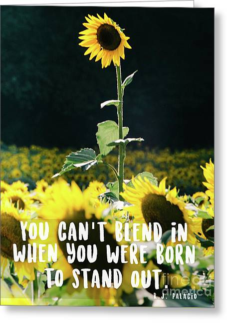 Greeting Card featuring the photograph Stand Out by Andrea Anderegg