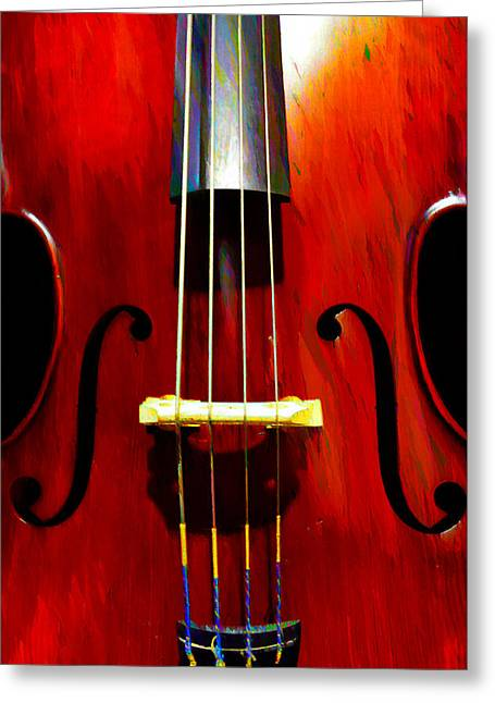 Stand Up Bass Greeting Card by Bill Cannon