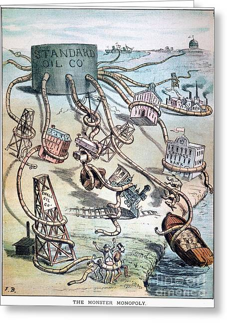 Standard Oil Cartoon Greeting Card