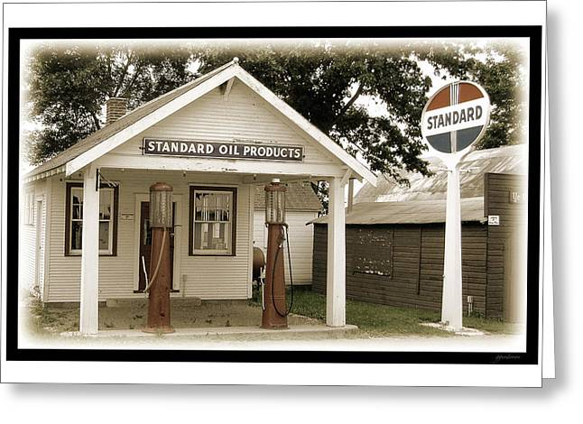 Standard Station - Jackson Co. Fair Grounds Minnesota Greeting Card by Gary Gunderson