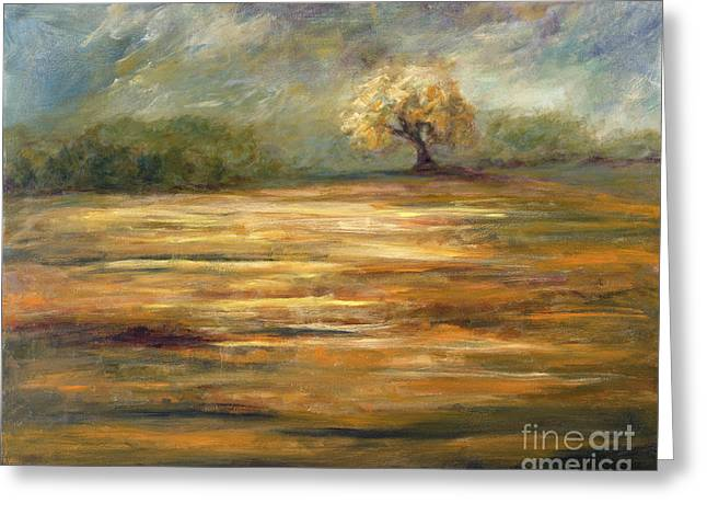 Standing Alone Greeting Card by Addie Hocynec
