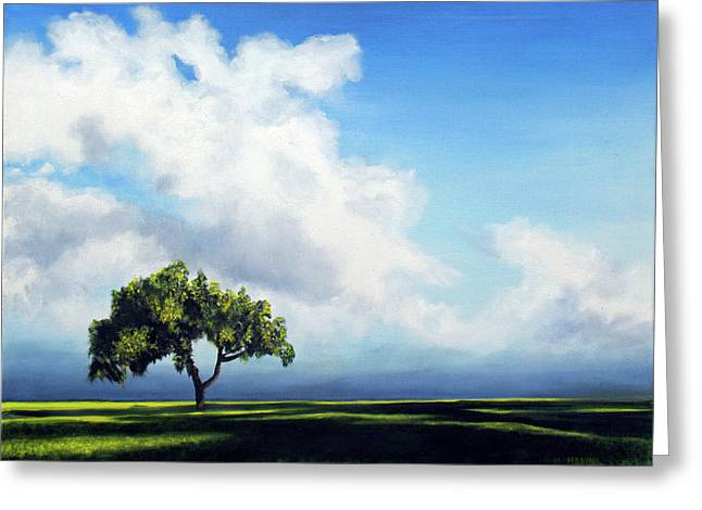 Standing Alone Greeting Card by Marina Petro