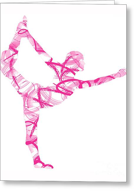 Yoga Pose Asana Standing Bow Pose Greeting Card