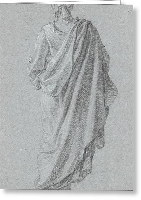 Standing Figure Viewed From Behind Greeting Card