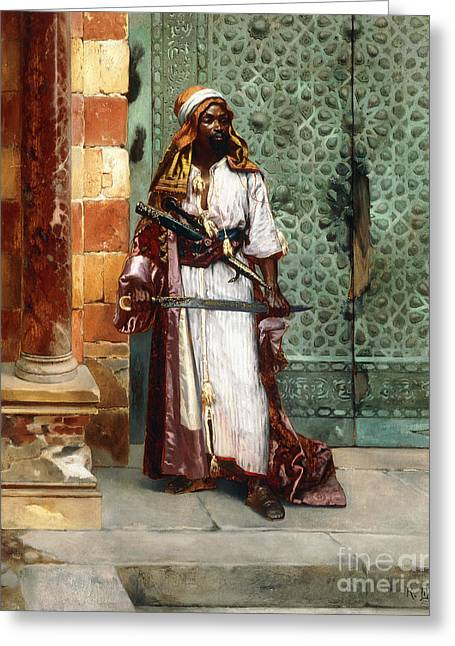 Standing Guard Greeting Card by Rudolphe Ernst