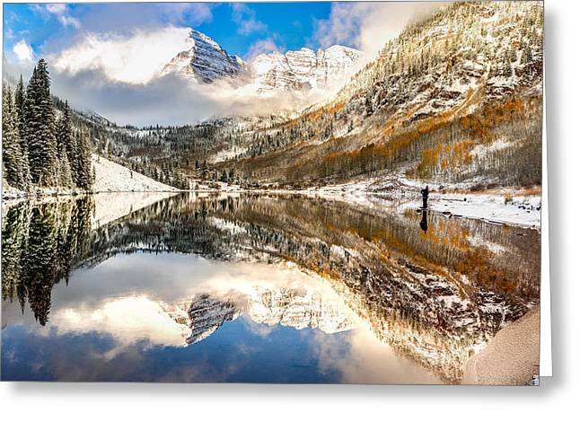Standing Near The Bells - Aspen Colorado Greeting Card by Gregory Ballos