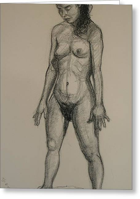 Standing Nude 5 Greeting Card