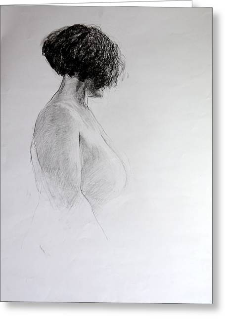 Standing Nude Greeting Card by Harry Robertson