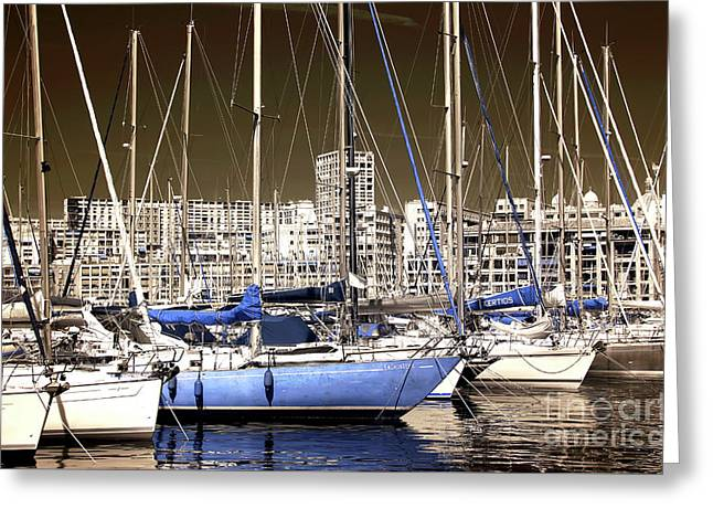 Standing Out In Marseille Greeting Card