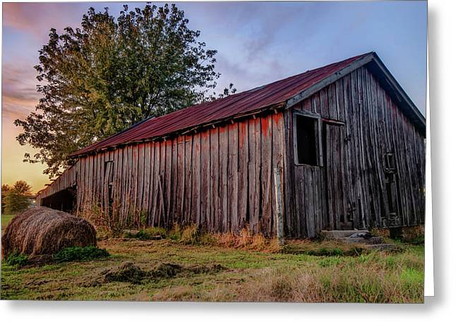 Standing Still - Old Barn Photography Greeting Card by Gregory Ballos