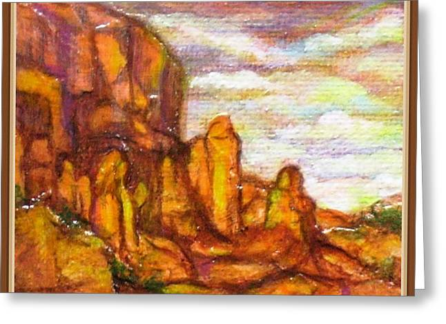 Standing Stones Landscape Greeting Card by Jan Wendt