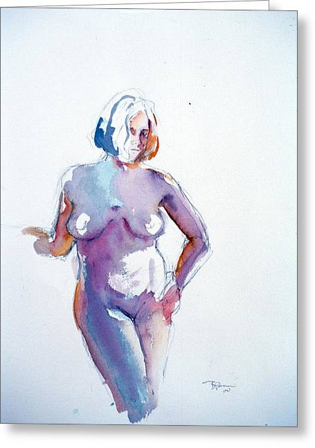 Standing Study Greeting Card
