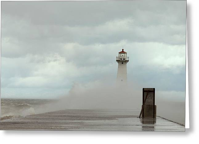 Standing Tall Against The Storm Greeting Card