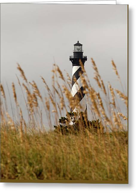 Greeting Card featuring the photograph Standing Tall At Hatteras by Chris Babcock