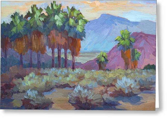 Tall Paintings Greeting Cards - Standing Tall at Thousand Palms Greeting Card by Diane McClary