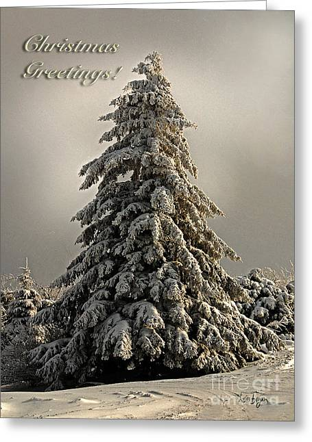 Standing Tall Christmas Card Greeting Card by Lois Bryan